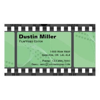 Film Strip - Green Business Card Template