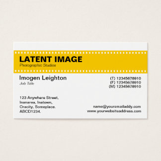 Film Strip Header - Amber and White Business Card