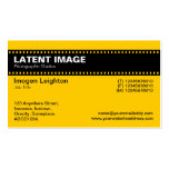Film Strip Header - Amber Business Card Templates