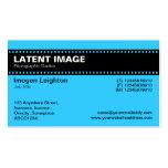 Film Strip Header - Blue Business Card Templates