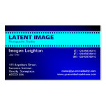 Film Strip Header - Cyan and Shaded Blue Business Cards