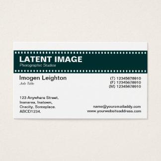 Film Strip Header - Dark Green and White Business Card