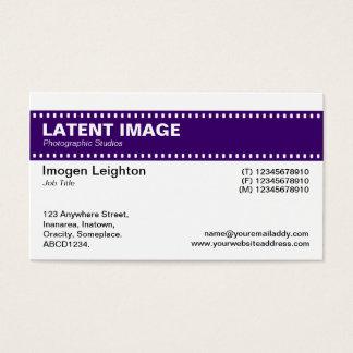 Film Strip Header - Deep Purple and White Business Card