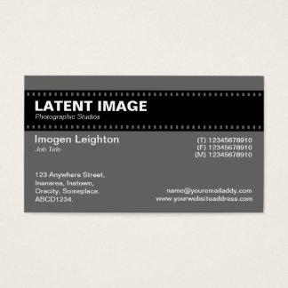 Film Strip Header - Gray Business Card