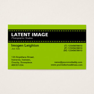 Film Strip Header - Martian Green Business Card