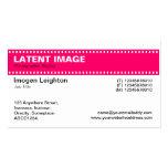 Film Strip Header - Neon Red Business Card Templates
