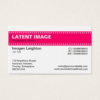 Film Strip Header - Neon Red Business Card