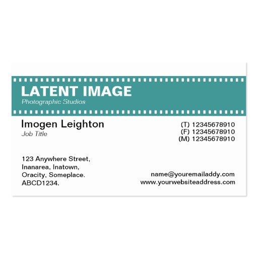 Film Strip Header - Ocean Green and White Business Card Template