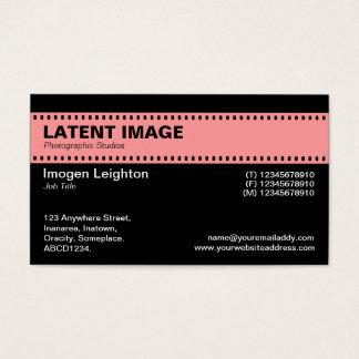 Film Strip Header - Soft Pink and Black Business Card