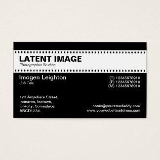 Film Strip Header - White with Black Business Card