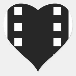 film strip heart sticker