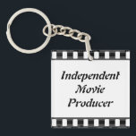 "Film Strip Keychain<br><div class=""desc"">This keychain makes a nice gift for any guy or gal that&#39;s in the movie industry. Customize and personalize it to your liking.</div>"