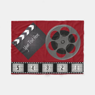 Film Strip Movie Reel Clapperboard Fleece Blanket