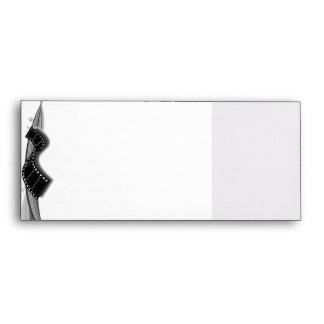 Film Strip on Black and White Ribbon Envelope