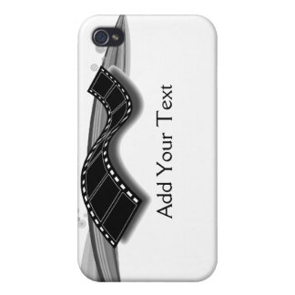 Film Strip on Black and White Ribbon iPhone 4 Cover