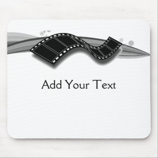 Film Strip on Black and White Ribbon Mouse Pad