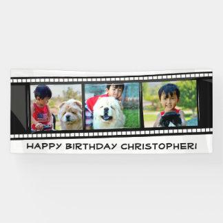 Film Strip Photo Collage Mosaic Wall Art /Birthday Banner