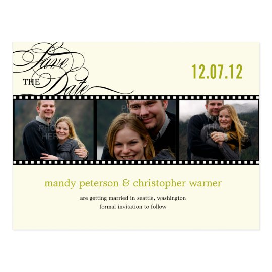 Film Strip Photo Save The Date Postcard