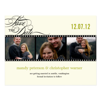 Film Strip Photo Save The Date Postcards