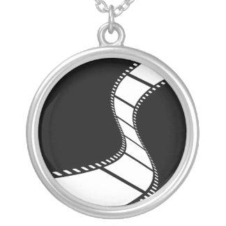 Film Strip Round Pendant Necklace