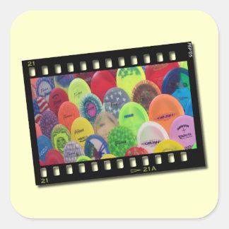 Film Strip Square Sticker