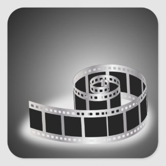 Film strip square sticker