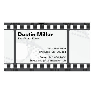 Film Strip - White Double-Sided Standard Business Cards (Pack Of 100)