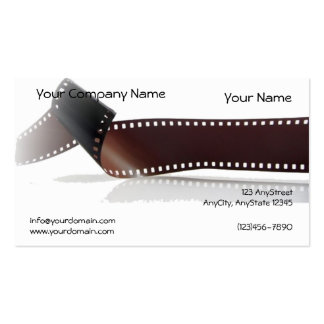 Film Strip with Reflection on White Background Double-Sided Standard Business Cards (Pack Of 100)