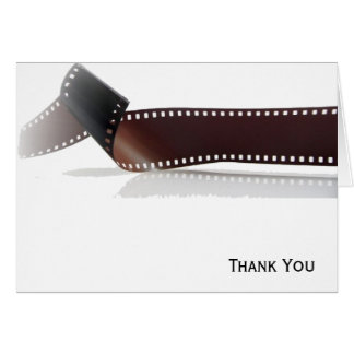 Film Strip with Reflection on White Card