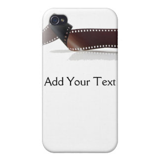 Film Strip with Reflection on White Case For iPhone 4