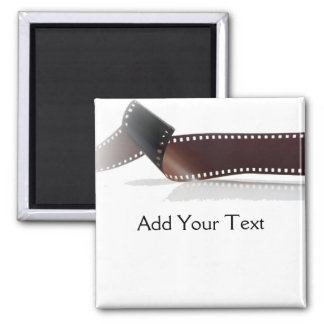 Film Strip with Reflection on White Magnet