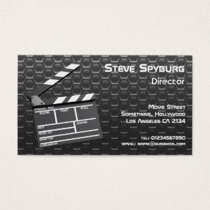 Movie business cards templates zazzle film studio movie clapperboard business card colourmoves Gallery