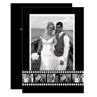 Film Tape Personalized Designer Wedding Card