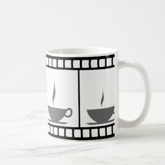 Film tape with coffee cup