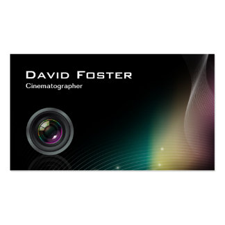 Film TV Photographer Cinematographer Business Card Template