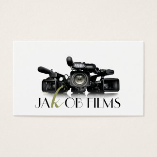 Film Video Camera Movie Director Filming Wedding Business Card
