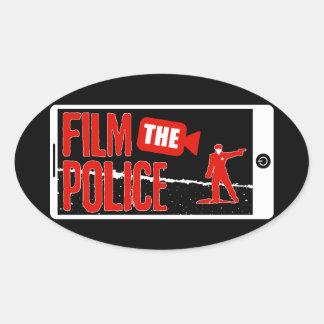 Filme al pegatina de la policía