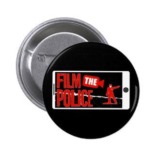 Filme el botón de la policía pin redondo de 2 pulgadas