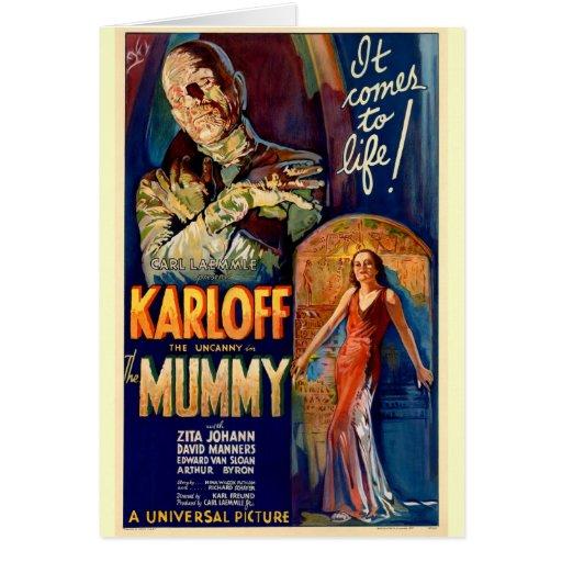 Filme el poster para la película 1932 la momia tarjetón