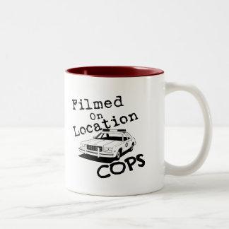 Filmed On Location-Mug Two-Tone Coffee Mug
