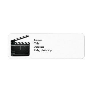 Filmmaker Film slate clapboard movie Address Label