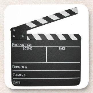 Filmmaker Film slate clapboard movie coasters
