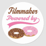 Filmmaker Funny Gift Round Stickers