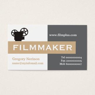 Filmmaker grey, white, tan eye-catching business card