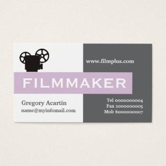 Filmmaker grey, white, thistle purple business card