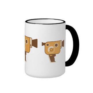 Filmmaker Movie Camera Ringer Coffee Mug