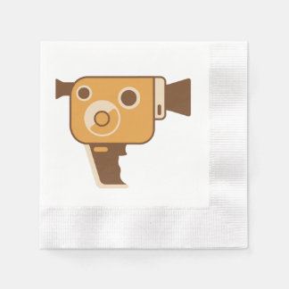Filmmaking Auteur Movie Camera Coined Cocktail Napkin