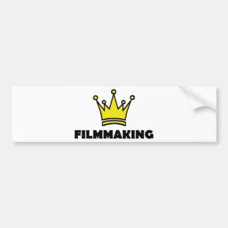filmmaking fun shirt crown king car bumper sticker