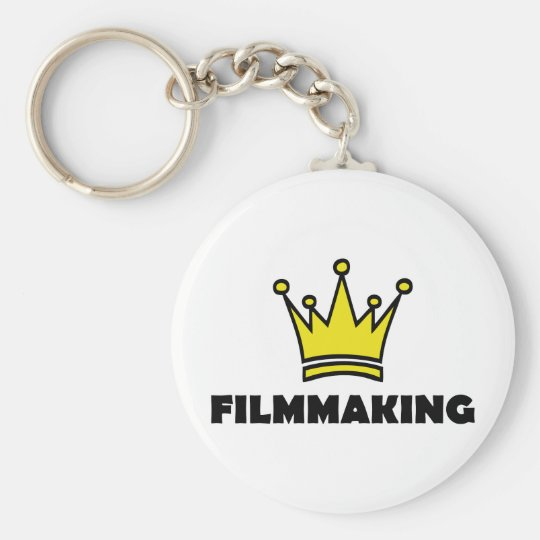 filmmaking fun shirt crown king keychain