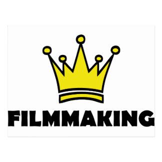 filmmaking fun shirt crown king postcard